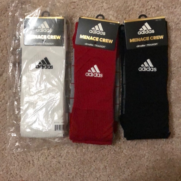 29a319517 adidas Underwear & Socks | Lot Of 3 Menace Crew Athletic Sock | Poshmark